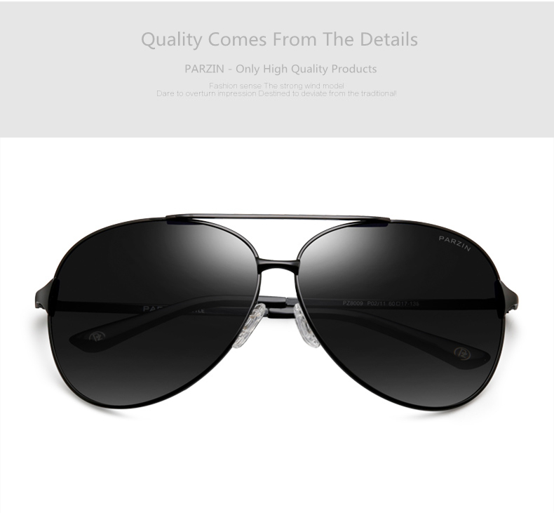 PARZIN Classic Alloy Frame Aviator Sunglasses For Men Quality ... e53d7146d5f5