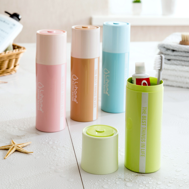 Travel Toothbrush Box Creative simple tooth cylinder portable