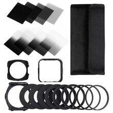 Walkingway Kamera Filtro Gradienten ND2 4 8 16 Platz ND Filter Set Kit Cokin P Serie Filter Halter Haube Adapter ringe für DSLR