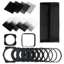 Zomei Camera Filtro Gradiënt ND2 4 8 16 Vierkante Nd Filter Set Kit Cokin P-serie Filter Houder Hood Adapter ringen Voor Dslr(China)