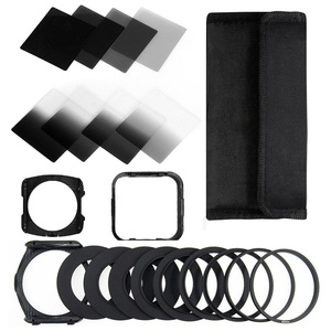 Zomei Camera Filtro Gradient ND2 4 8 16 Square ND Filter Set Kit Cokin P Series Filter Holder Hood Adapter Rings for DSLR(China)