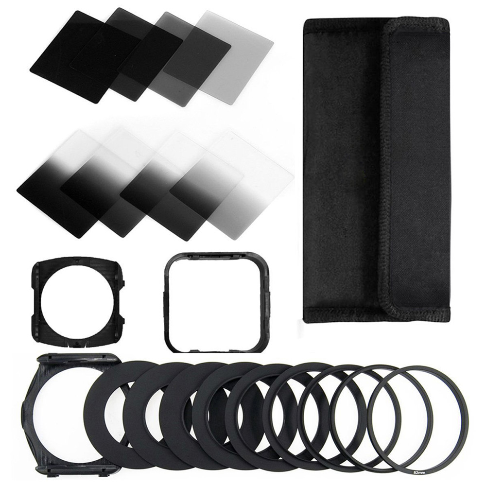 Zomei Kamera Filtro Gradienten ND2 4 8 16 Platz ND Filter Set Kit Cokin P Serie Filter Halter Haube Adapter ringe für DSLR