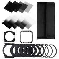 Zomei câmera filtro gradiente nd2 4 8 16 quadrado nd filtro conjunto kit cokin p série filtro titular capa adaptador anéis para dslr