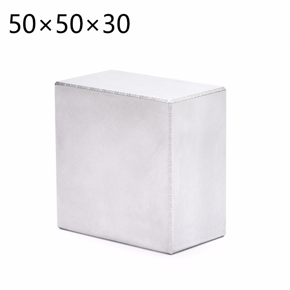 N52 1 stücke Block Magnet 50x50x30mm Super Starke Seltenerd-magneten Neodym-magnet 50 * 50*30mm