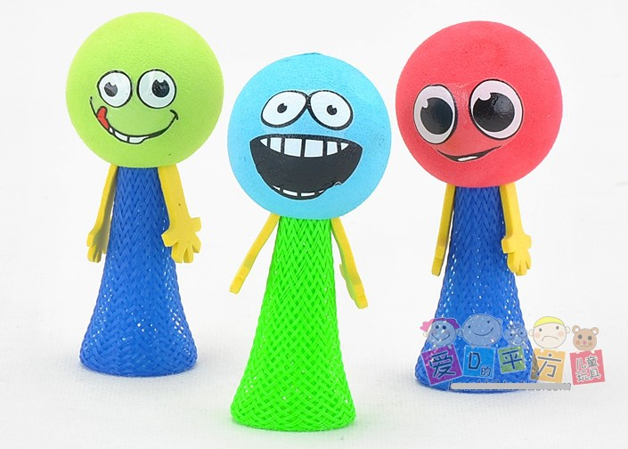 Candice guo! Funny game expression bounce ball hip hop hopper push & down baby toy 5pc/lot