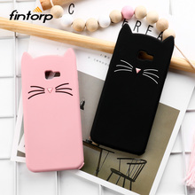 3D Cute Cat Case For Samsung Galaxy J4 Plus 2018 Cases Soft Silicone Cover On J6 J7 Prime J5 2017 J3 2016