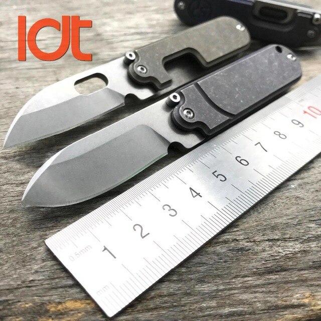 LDT فول سكين للفرد صغير S35VN شفرة حجر غسل التيتانيوم مقبض SR مفتاح سلسلة السكاكين بقاء سكين صيد أدوات EDC الجيب