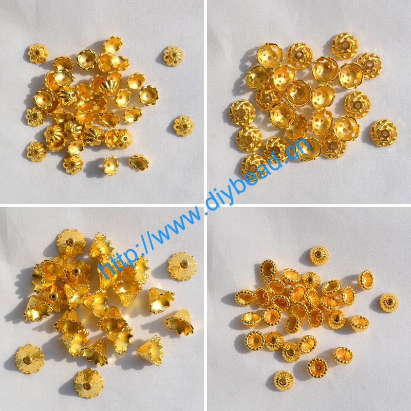 100pcs/lot jewelry findings and components 10MM Acrylic Accessory earring Making Department Spacers Gold Color Receptacle