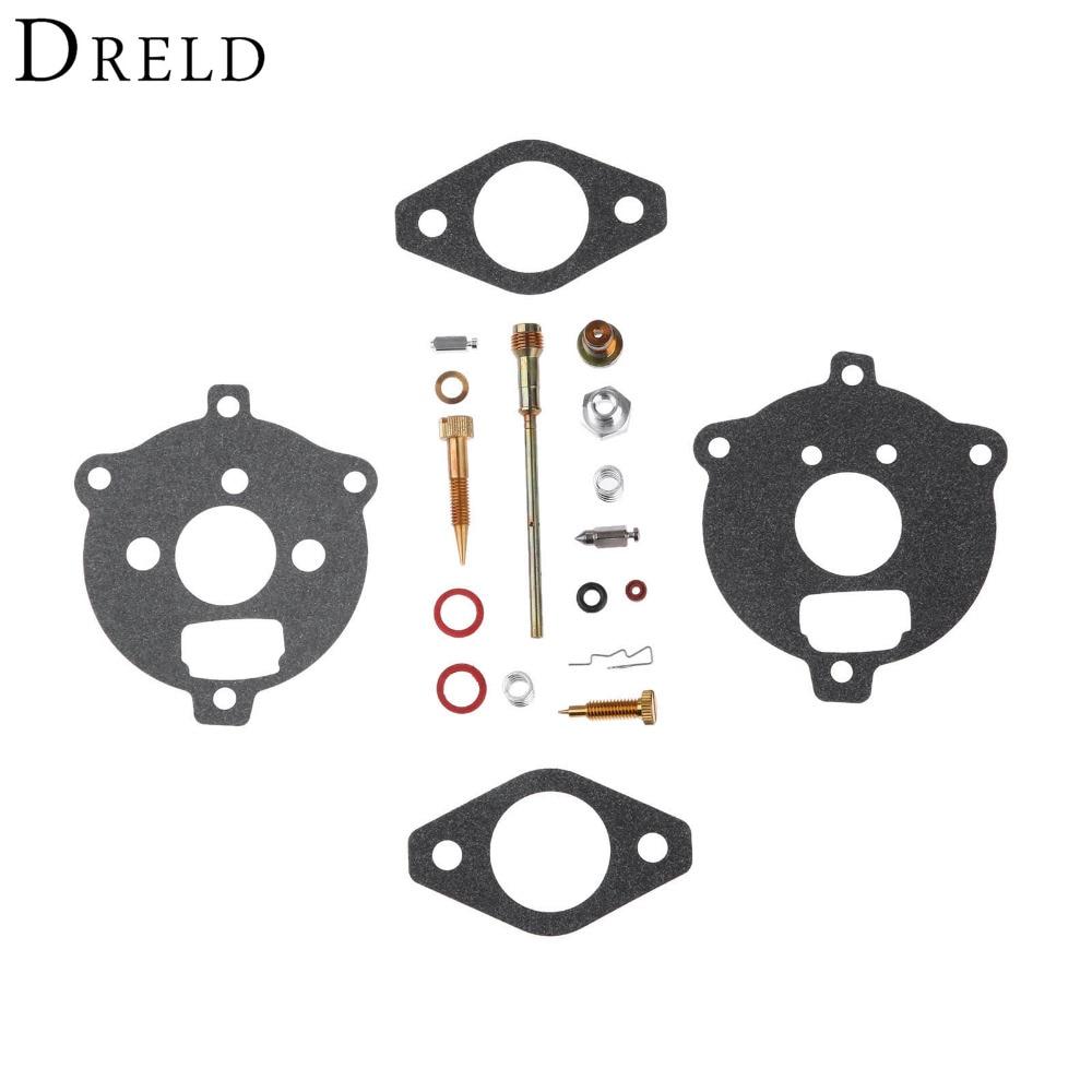 DRELD Replacement Carburetor Repair Kit Carb Rebuild Tool for Briggs & Stratton 394693 291763 295938 Lawn Mower Parts 690115 carburetor carb replacement gasket accessories set kit replacement fit for 690111