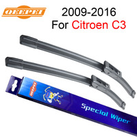 QEEPEI Windscreen Wiper For Citroen C3 2009 2016 26''+16'' Car Accessories Auto Windshield Wipers Blade Prices CPD106