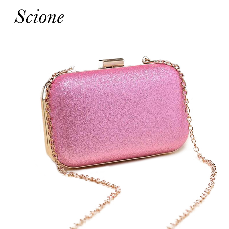 Luxury Glitter Women Wedding Bride Shoulder Bags Gold Evening Bags Party Day Clutches Purses Wallet Sequins Chain Handbags Li693 2017 new luxury diamonds women day clutches bag ladies single shoulder handbag bride wedding party evening bags handbags purses