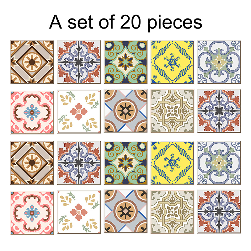 Buy 20pcs set pvc diy mosaic tile for Maioliche adesive