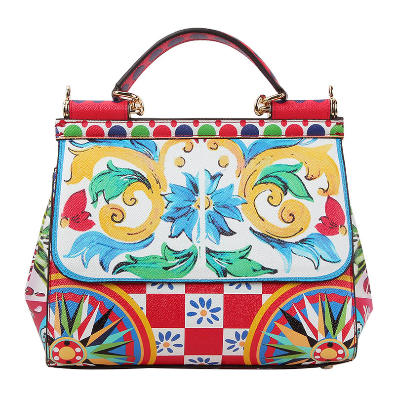 BENVICHED New Sicily Luxury Handbag Brand Design Leather Printing Platinum Women Shoulder