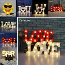 Amroe 2018 Hot 3D LOVE I love YOU STAR JOY Marquee USB & Battery Night Light Luminaria Desk Lamp Lover's Gift Wedding Best Decor