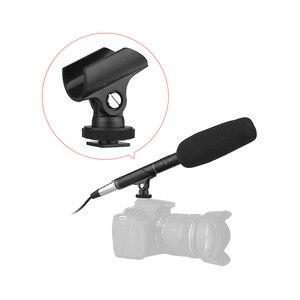 Image 1 - Andoer MF 260 micrófono Super uni ultra para entrevistas + Cable de Audio de 6M 2 uds soportes de micrófono para DSLR Cámara videocámara altavoz