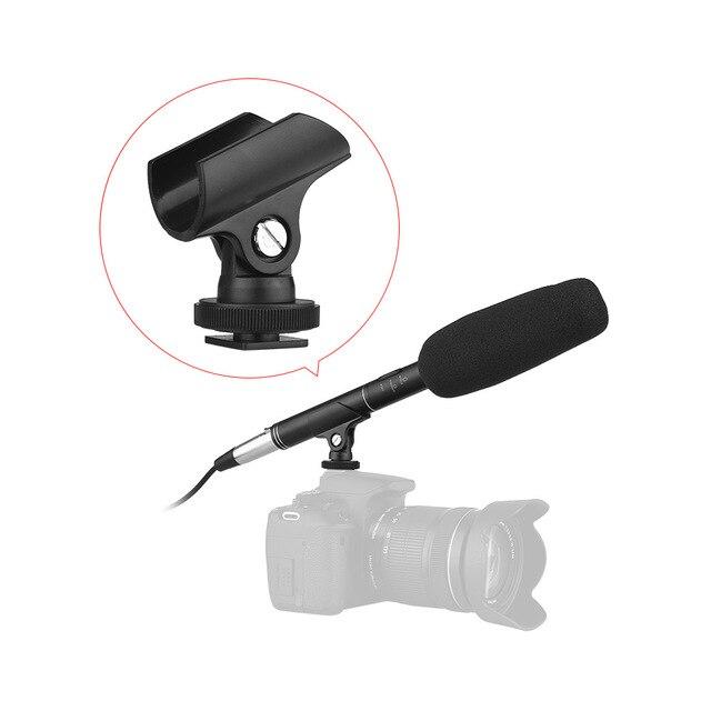 Andoer MF 260 micrófono Super uni ultra para entrevistas + Cable de Audio de 6M 2 uds soportes de micrófono para DSLR Cámara videocámara altavoz
