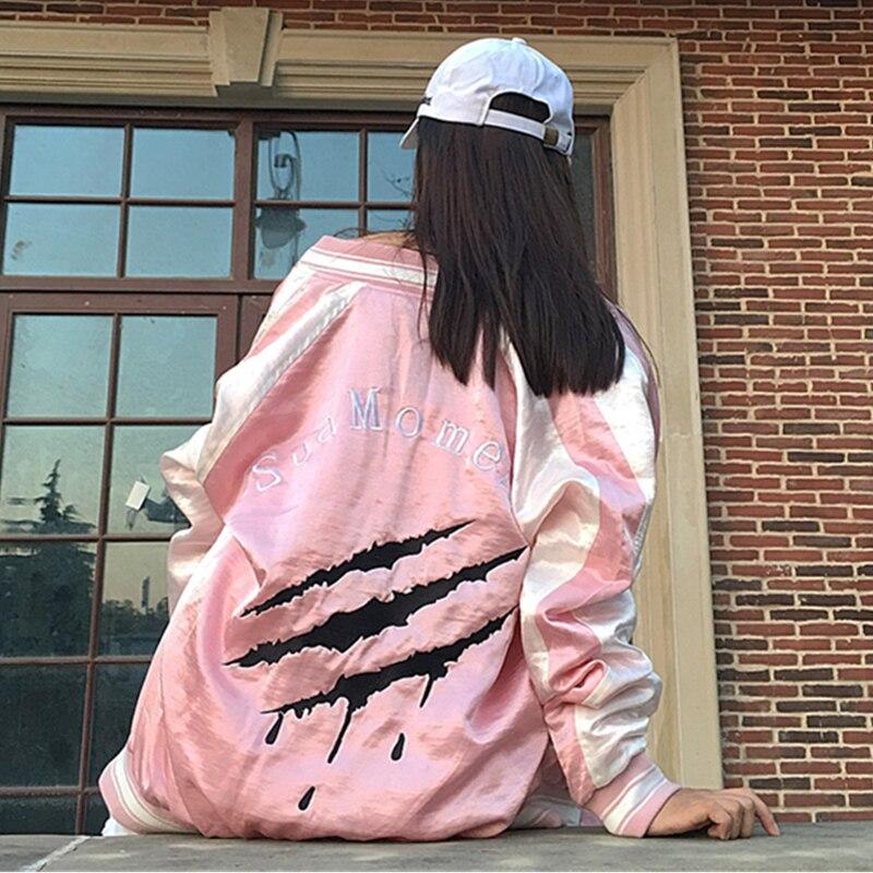 Mode Impression Femmes Longues Patter Automne Marée Femelle À Rond pink Black Lâche Et Veste Cy168 Printemps Col Manteau Manches Lettern Marque Nw0PXZk8nO