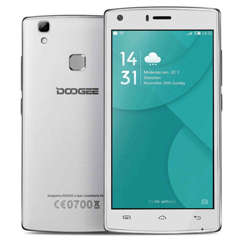 Цена за Doogee X5 MAX Pro Смартфон 5.0 Дюймов HD MTK6737 Quad Core Andriod 6.0 Мобильного Телефона 2 ГБ ROM 16 ГБ RAM 8MP Отпечатков Пальцев Сотовый телефоны
