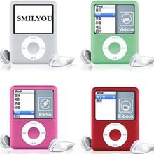Музыкальный плеер SMILYOU, 1,8 дюймовый ЖК экран, MP3, MP4, металлический корпус, 4BG, 8 ГБ, 16 ГБ, 32 ГБ, MP4 плеер с поддержкой чтения электронных книг, fm радио