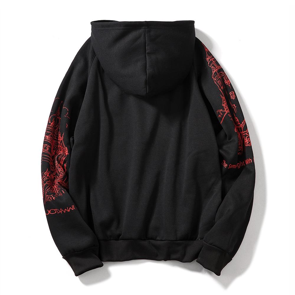 FGKKS Print Men's Hoodies Sweatshirts Autumn Men Hip Hop Fashion Casual Male Hoodies Sweatshirts EU Size 2