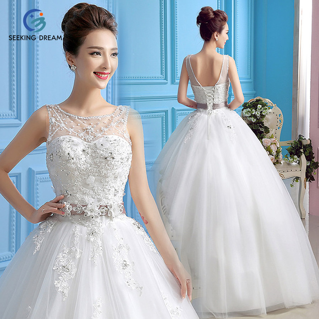 Latest Ivory White Ball Gown Dress One Shoulder Strapless Wedding ...