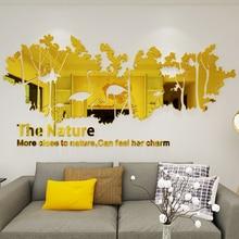 Flamingo bird acrylic Wall Stickers Mirror Style Decal Mural Wall decors Home wall arts couple bird wall decal