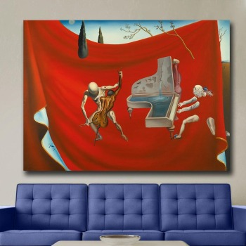 Music The Red Orchestra, 1957 - Salvador Dali Canvas Painting For Living Room Home Decor Oil Painting On Canvas Wall Art 1