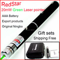 [RedStar] 5PCS/LOT 20mw 5mw green laser pointer AAA 7# Battery pen laser  red laser pen Starry Laser Pointer Original Ningbo