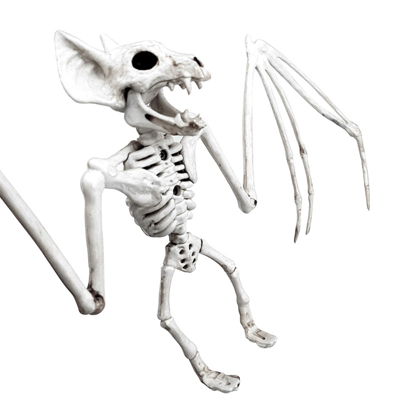 Halloween Decoration Bone Props Animals Skeleton Ornaments Bat Spider Dragon Bird Bones Hallowmas Horror House Party Decoration (117)