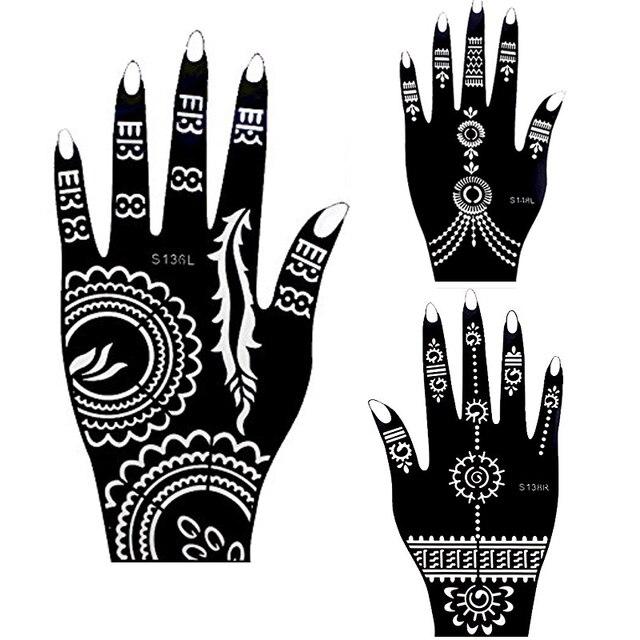 1 stücke Hand Große Henna Tattoo Schablonen Für Körper Malen, blume ...