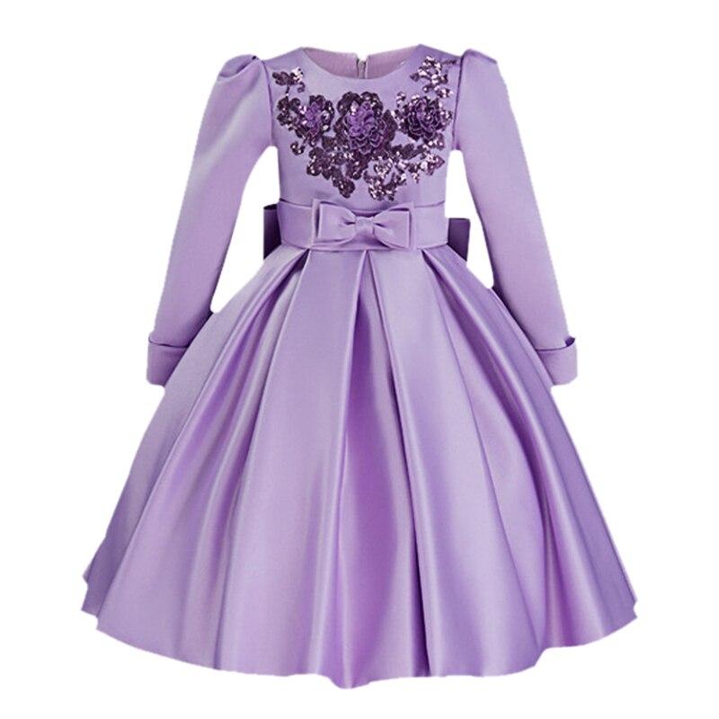 2017 automne Winte mode filles robes rouge fête robe enfants filles robes princesse Costumes filles soirée bal enfants vêtements - 2