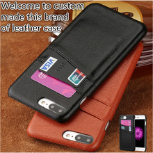 HY10 Genuine Leather Half-wrapped Case With Card Slots For Blackberry Key2 Phone Case For Blackberry Key 2 Back Cover