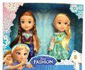 2 pcs/set , Baby Toys Mini Doll 16cm Elsa and Anna Cartoon Figure Kelly Dolls Brinquedos boneca for Display Girls Birthday Gift
