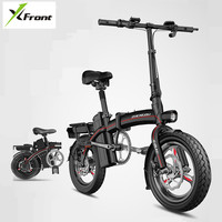 Electric Bicycle 14 inch Wheel Aluminum Alloy Frame Foldable Men ebike 8 10 12.5A Lithium Battery 48V 400W Women electric bike