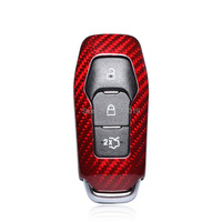 For Ford Mustang Smart Key Case Remote Shell Carbon Fiber Key Sleeve Car Styling