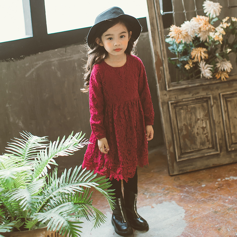 af8bb9dd2 lace princess dress baby teenage girls clothing autumn winter kids ...