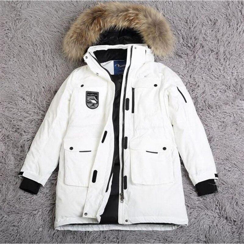 Зимние парки женские пуховики с натуральным меховым воротником пальто с капюшоном Большие размеры мужские и женские ветрозащитные утеплен
