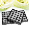 25 Pots/Set Nail Art Display Box Empty Nail Art Ornaments Case Glittering Nail Rhinestones Dry Flowers Collection Box