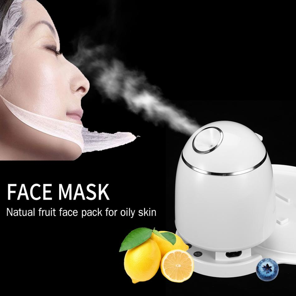 Automatic DIY Fruit Vegetable Face Mask Machine Facial Mask Maker Collagen Skin Lifting Thermal Mist Spray Face Care Spa Steamer цена