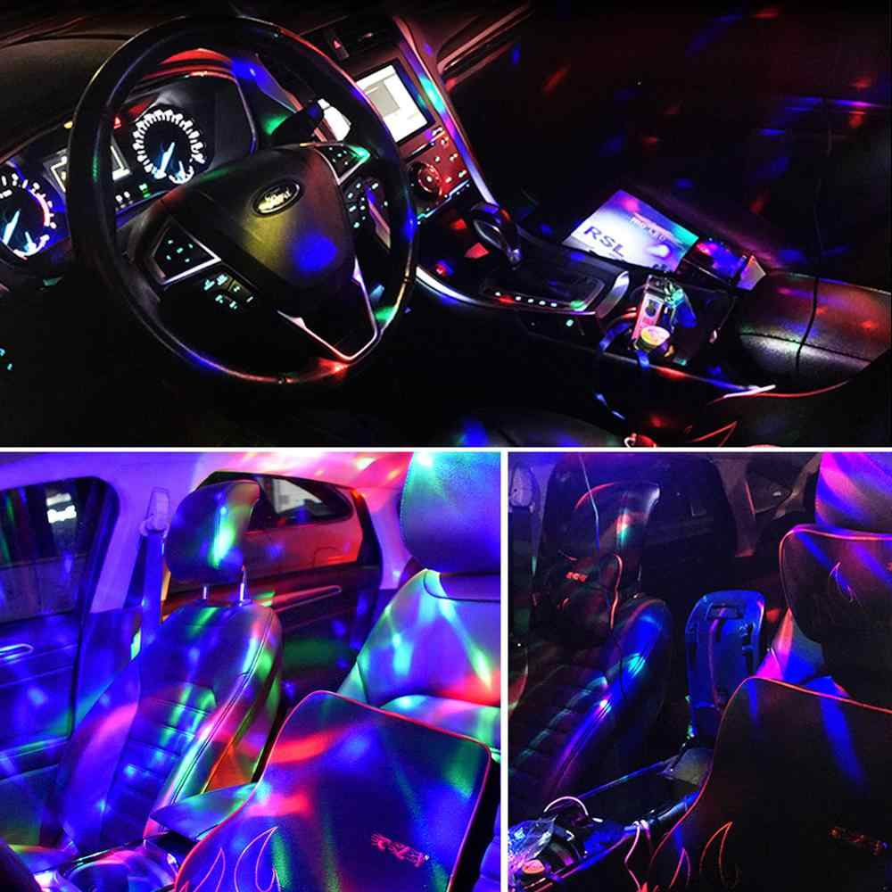 Мини Android USB Disco Light портативный домашний вечерние праздничные освещение дискотечное шар мощный световой эффект день рождения клуб свадебный Декор светодиодный