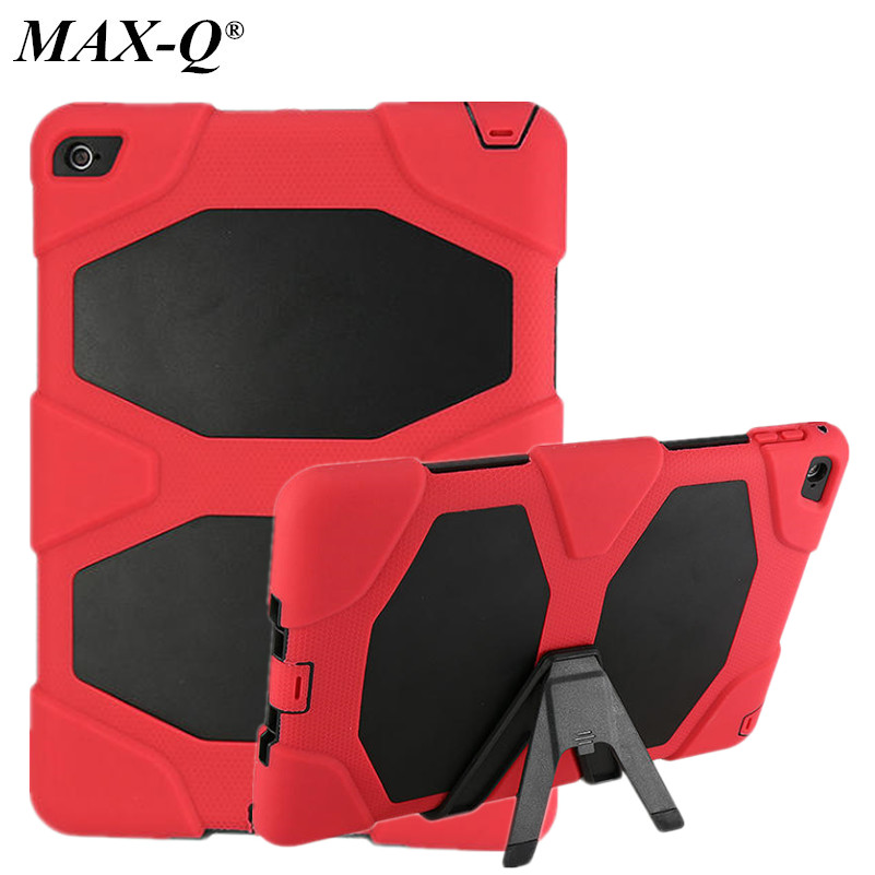 MAX-Q Hybrid Stand Hard Silicone Rubber Case for ipad6 Cover For Apple ipad air 2 9.7 Tablet Rugged Impact Protective