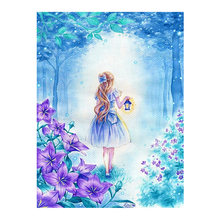 Forest Girl Moge Diamond Painting Full Round cartoon portrait New DIY Toy Sticking Drill Cross Embroidery 5D Home Decoration