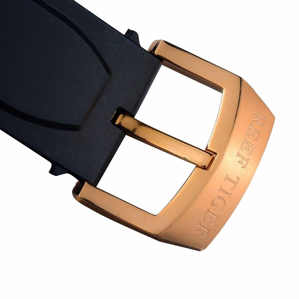 2019 Reef Tiger/RT relojes deportivos de diseño para hombres reloj de cuarzo de oro rosa con cronógrafo y reloj de fecha hombre RGA3063 - 6
