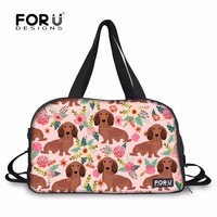 FORUDESIGNS Gym Bag Training Bag Dachshund Dog Printed Yoga Mat Shoulder Bags Sport Bag for Women Fitness with Shoes Pocket
