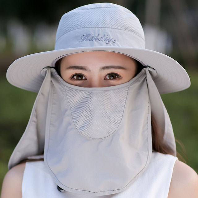 a47979e394297 Summer Sunshade Quick Drying Sun Hat With Face Neck Cover UV Protection  Breathable Cycling Climbing Fishing
