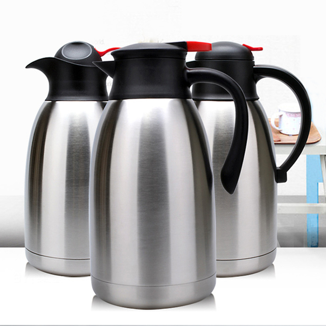 Stainless Steel Thermos Coffee Pot Household Hot Water Bottle Thermoes Kettle High Quality Vacuum Tea