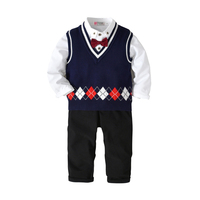 3pieces Set Autumn Children Leisure Clothing Sets Kids Boy Clothes Set Formal Gentleman Suit Boys Clothing Set