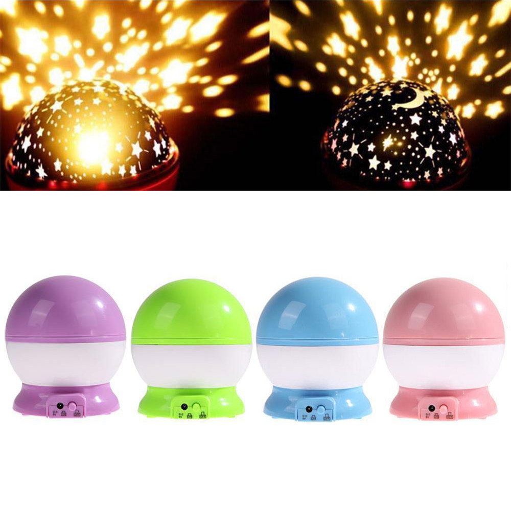 Four seasons star projector lamp - 4 Color Romantic Rotating Led Starry Night Sky Projector Lamp Kids Gift Star Light Cosmos Master