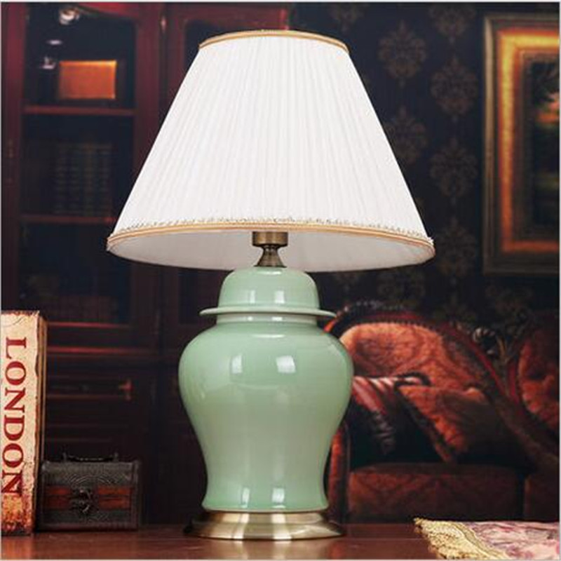Buy chinese style elegant green red - Elegant table lamps for living room ...