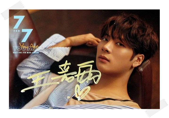 signed GOT7 GOT 7 Jackson  autographed photo  7 FOR 7 6 inches free shipping 102017A got7 got 7 jb autographed signed photo flight log arrival 6 inches new korean freeshipping 03 2017